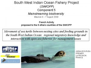 South West Indian Ocean Fishery Project SWIOFP Component