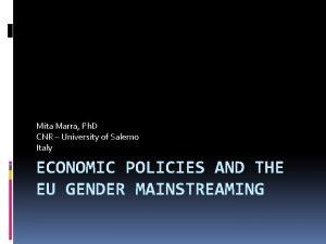 Mita Marra Ph D CNR University of Salerno