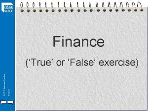 Finance GCSE Business Studies Finance True or False