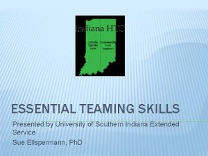 ESSENTIAL TEAMING SKILLS Presented by University of Southern