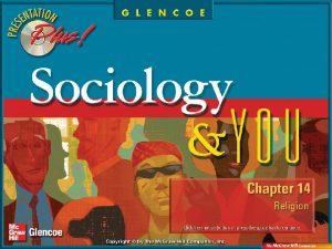 Chapter Preview Section 1 Religion and Sociology Section