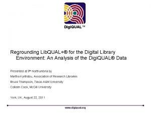 Digi QUAL Regrounding Lib QUAL for the Digital