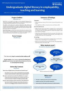 UROP Undergraduate Research Opportunities Programme Undergraduate digital literacy