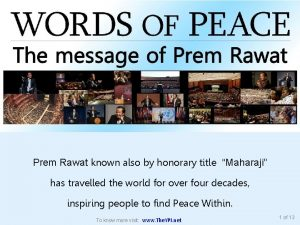 Prem Rawat known also by honorary title Maharaji