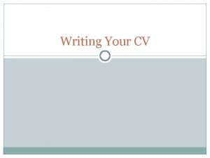 Writing Your CV Difference Between Resum and CV