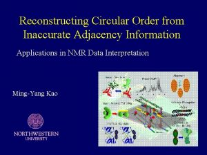Reconstructing Circular Order from Inaccurate Adjacency Information Applications