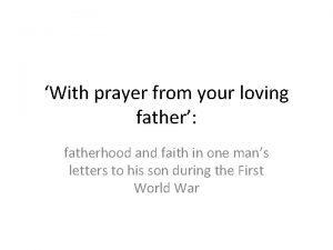 With prayer from your loving father fatherhood and