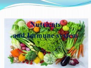 Nutrients and Immune system Innate immunity aMacrophages monocytes