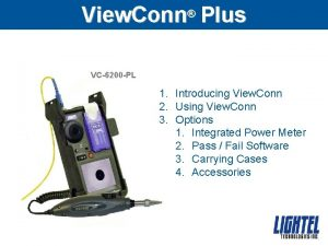 View Conn Plus VC6200 PL 1 Introducing View