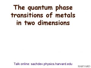 The quantum phase transitions of metals in two