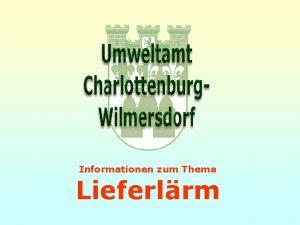 Informationen zum Thema Lieferlrm Informationen zum Thema Lieferlrm