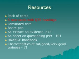 Resources Pack of cards u 5 new cards