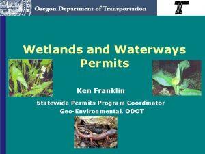 Wetlands and Waterways Permits Ken Franklin Statewide Permits