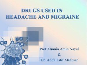 Prof Omnia Amin Nayel Dr Abdul latif Mahesar