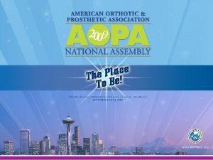 2009 AOPA Assembly Top Ten Presentation Modifiers Directional