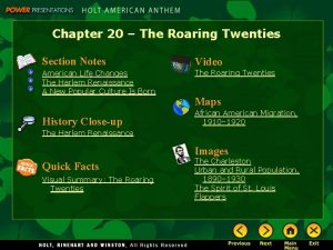 Chapter 20 The Roaring Twenties Section Notes Video