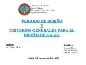 Universidad de Oriente Ncleo Bolvar Escuela de Ciencias