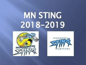 MN STING 2018 2019 Introductions Kristi Ehlers President