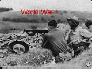 World War I The United States Enters the