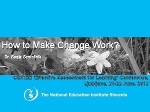 How to Make Change Work Work Dr Sonja