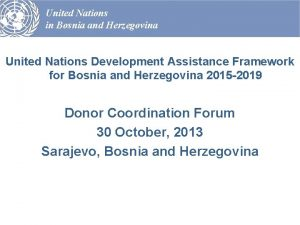 United Nations in Bosnia and Herzegovina United Nations