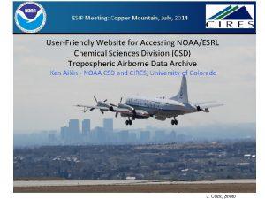 ESIP Meeting Copper Mountain July 2014 UserFriendly Website