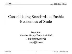 June 1999 doc IEEE 802 15 99011 r