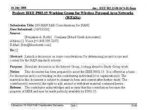 16 July 2008 doc IEEE 802 15 08