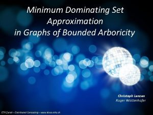 Minimum Dominating Set Approximation in Graphs of Bounded