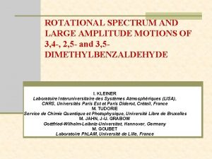 ROTATIONAL SPECTRUM AND LARGE AMPLITUDE MOTIONS OF 3