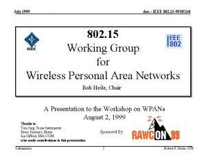 July 1999 doc IEEE 802 15 99052 r