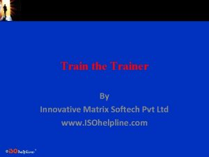 Train the Trainer By Innovative Matrix Softech Pvt