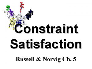 Constraint Satisfaction Russell Norvig Ch 5 Overview Constraint