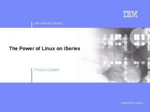 IBM e Server J i Series J The
