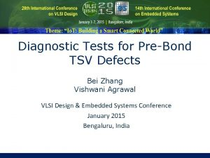 Diagnostic Tests for PreBond TSV Defects Bei Zhang