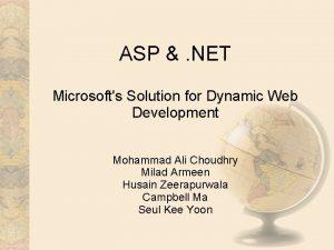 ASP NET Microsofts Solution for Dynamic Web Development