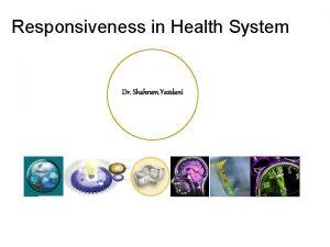 Responsiveness in Health System Dr Shahram Yazdani Relations