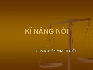 K NNG NI GS TS NGUYN MINH THUYT