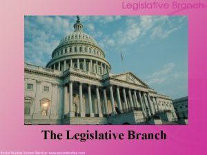 The Legislative Branch Legislative Branch Inception The Virginia