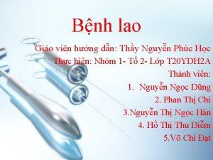 Bnh lao Gio vin hng dn Thy Nguyn