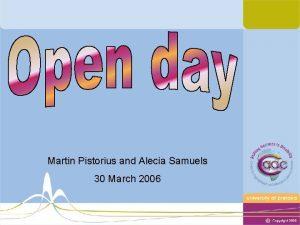 Martin Pistorius and Alecia Samuels 30 March 2006
