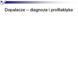 Dopalacze diagnoza i profilaktyka rodki zastpcze produkty zawierajce