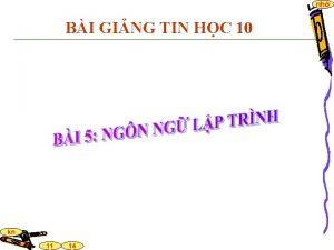 nh BI GING TIN HC 10 kn 11