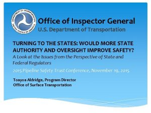 Office of Inspector General U S Department of