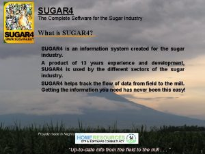 SUGAR 4 The Complete Software for the Sugar