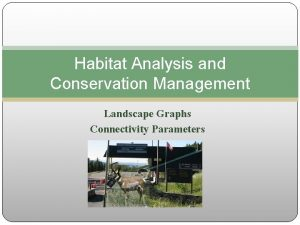 Habitat Analysis and Conservation Management Landscape Graphs Connectivity