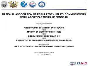 1 NATIONAL ASSOCIATION OF REGULATORY UTILITY COMMISSIONERS REGULATORY