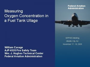 Measuring Oxygen Concentration in a Fuel Tank Ullage