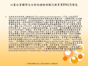 Proteomic analysis of ENU mice with abnormal defect