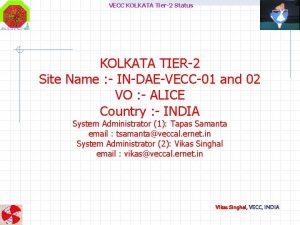 VECC KOLKATA Tier2 Status KOLKATA TIER2 Site Name